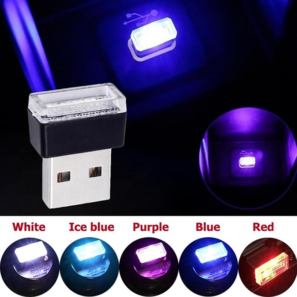 Home Car Interior Decorative USB LED Lamp Mini Notebook Night Light