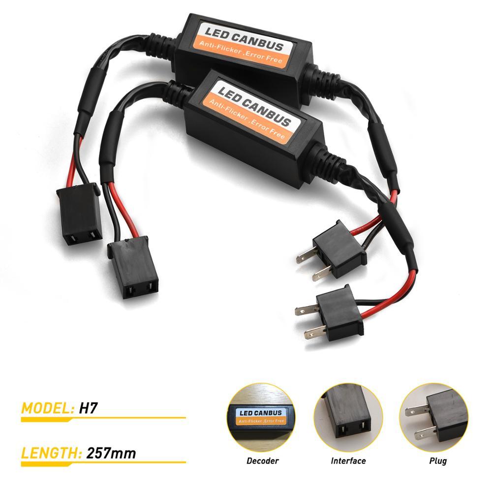 LED reflektor Canbus dekodery wolne od błędów anty migotania rezystor samochodowy rezystor obciążenia kasowanie błędów dekoder LED światła samochodowe