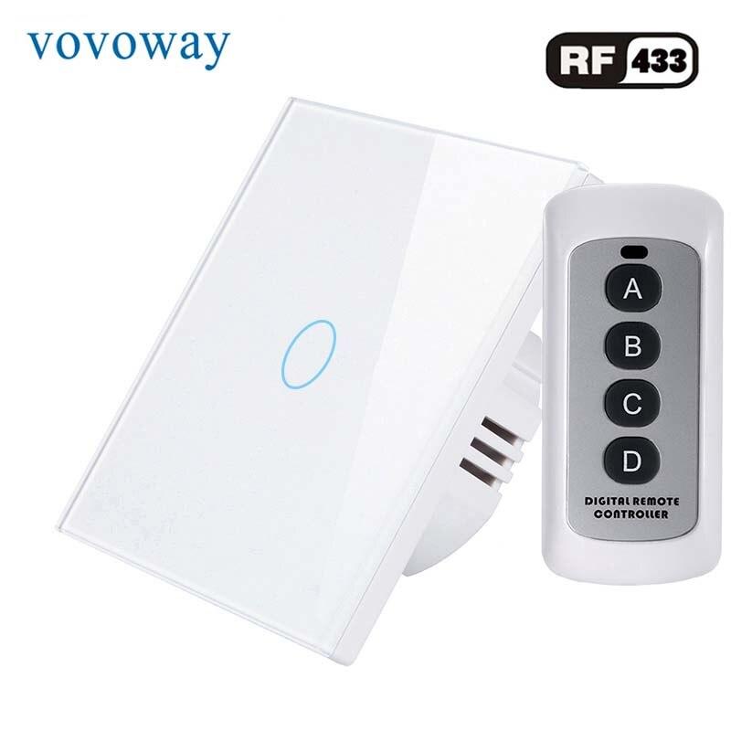 Vovoway-مفتاح حائط يعمل باللمس RF ، مفتاح حائط يعمل باللمس ، 1/2/3 مدخلات ac 220V ، للتثبيت