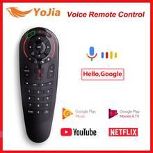 G30 voix Air souris IR apprentissage G10 télécommande gyroscope détection 2.4G sans fil Mini clavier pour Android 10 TV Box Android 9.0
