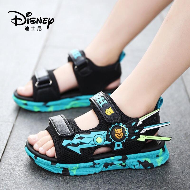 ديزني حذاء أطفال الأولاد الفيلكرو الصنادل 2021 صيف جديد أحذية أطفال الشاطئ لينة وحيد المفتوحة تو الصنادل أحذية الأولاد