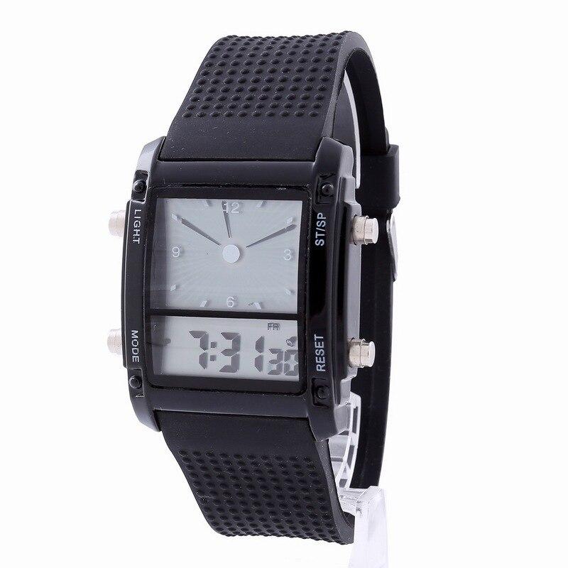 Digital para Homem Esporte ao ar Relógio de Pulso Multifunction Relógio Dupla Tela Relógios Despertador Livre Inteligente Masculino Led