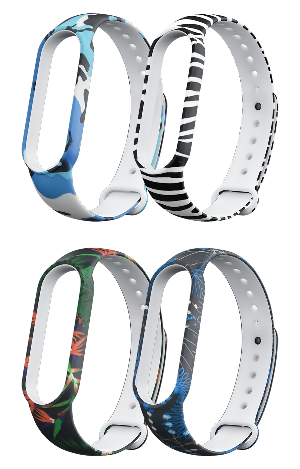Silicone strap for xiaomi mi band 5 Silicone Soft TPU Wristband replacement Smart straps for mi band 5 bracelets Bands Colorful for xiaomi mi band 2 strap miband 2 strap bands colorful starry sky all stars splash soft rubber silicone watch straps bands new