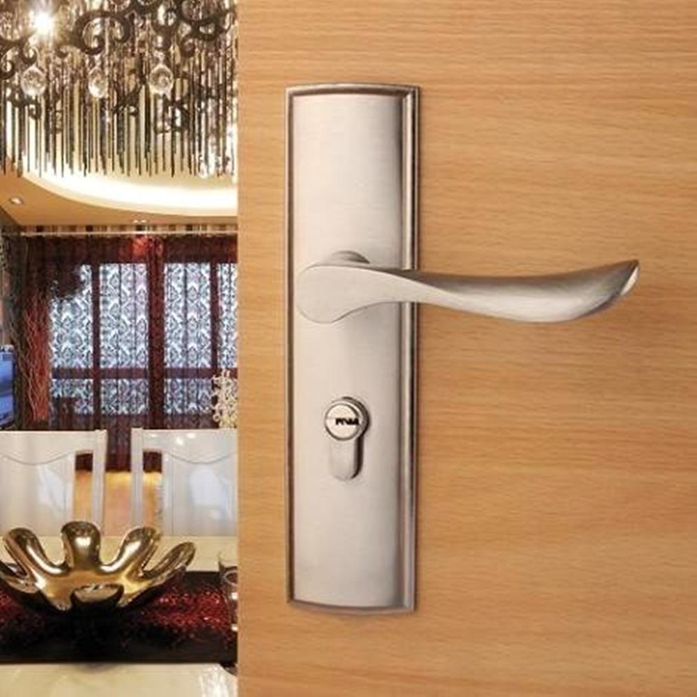 قفل باب داخلي من مادة الألومنيوم ، قفل مقبض باب غرفة المعيشة وغرفة النوم والحمام ، جديد