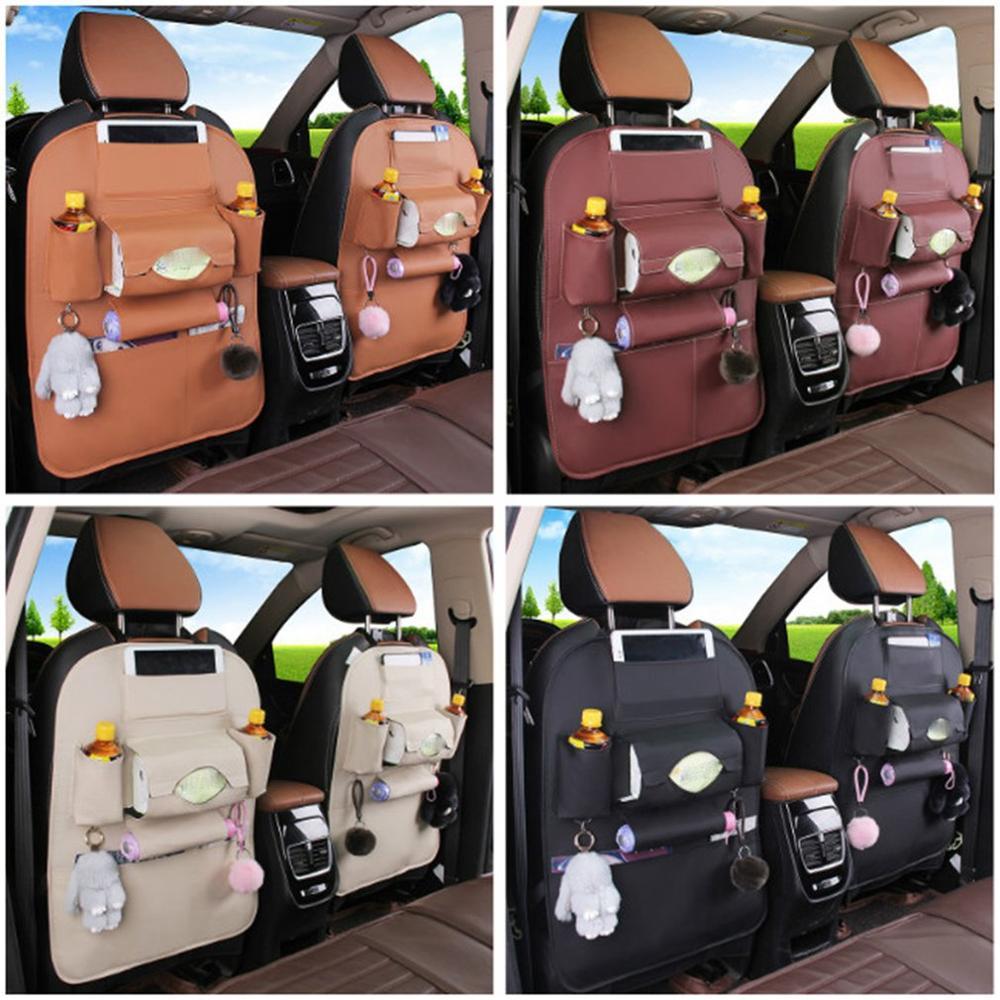 Organizador para coche, bolsillo múltiple para coche, bolsillo para teléfono automático, organizador de asiento trasero de coche, Protector para coche, bolsa de almacenamiento colgante para niños