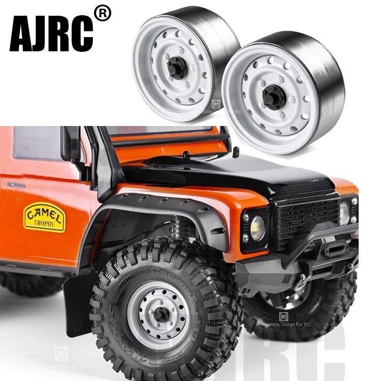 Chenille de roche RC avec jante en métal de 1.9 pouces, 4 pièces, pour 1/10 Axial SCX10 90046 TRX-6 G63 CC01 D90 D110 TF2 Traxxas TRX-4 G500