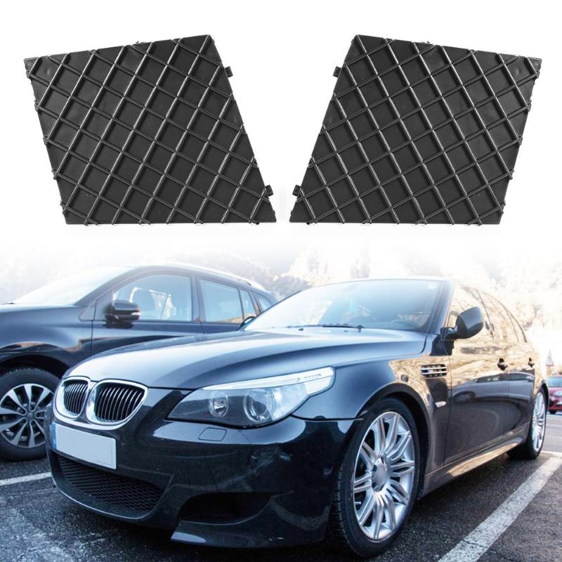 1 par de rejillas de parachoques delanteras ABS de alta calidad para BMW 5-Series E60 E61 M paquete 2003-2010 accesorios de coche piezas exteriores