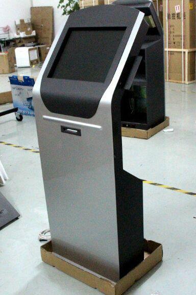Kiosco de alta calidad de 15/17/19 pulgadas con lector de tarjetas/escáner/aceptador de facturas/lector de tarjetas magnéticas