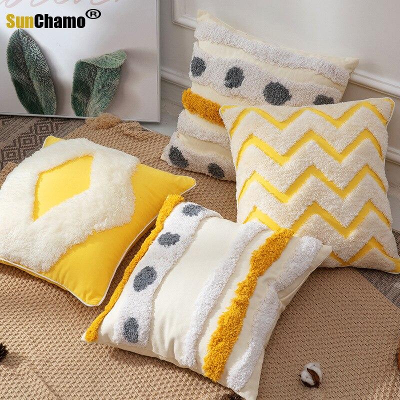 2020 جديد الهند اليدوية معنقدة وسادة السرير السرير وسادة أريكة غرفة المعيشة شرابة وسادة لطيف مخدة كرسي رمي الوسائد