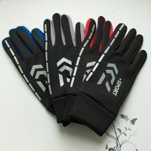 Hiver DAWA Plus velours imperméable coupe-vent Sports de plein air pêche gant plein doigts garder au chaud anti-dérapant gants de pêche