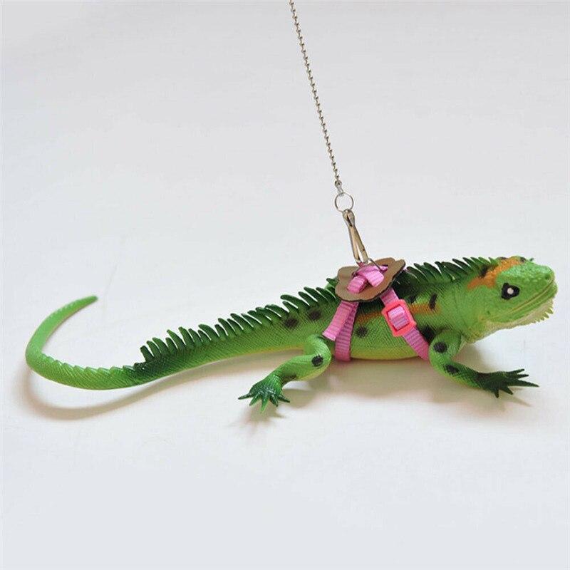 Arnés de dragón barbudo de lagarto Gecko correa ajustable mantener la correa de la cuerda animales arnés de mascota accesorios de cuerda duradera de varios colores