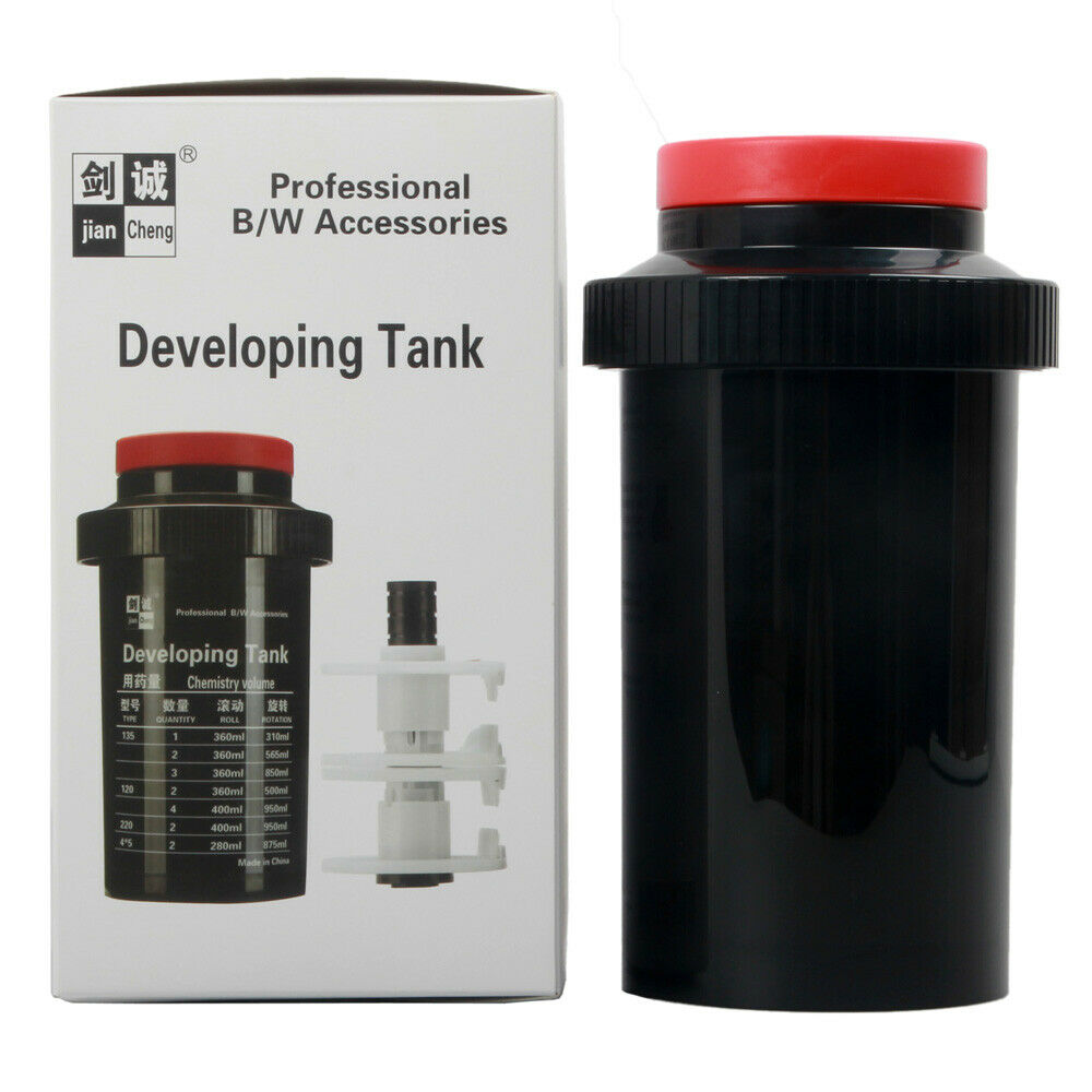 ETone película cuarto oscuro en vías de desarrollo el tanque 3 espirales 120, 127, 135, 4x4 5x5 B & W oscuro negativo habitación de procesamiento