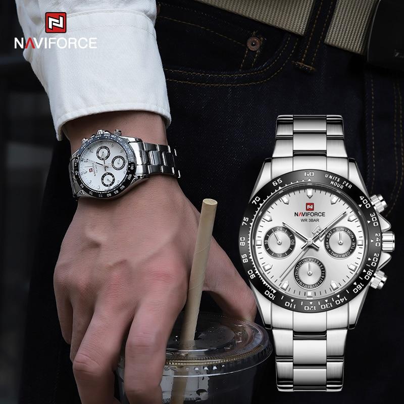 Люксовый бренд NAVIFORCE, деловые повседневные мужские часы, роскошные классические женские часы, водонепроницаемые часы для свиданий, наручны...