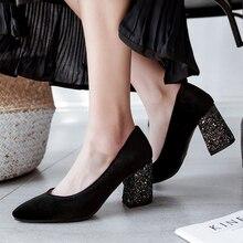 Chaussures à talons hauts en daim pour femme, escarpins Sexy, chaussures de mariage, de bureau, grande taille 34-46, printemps