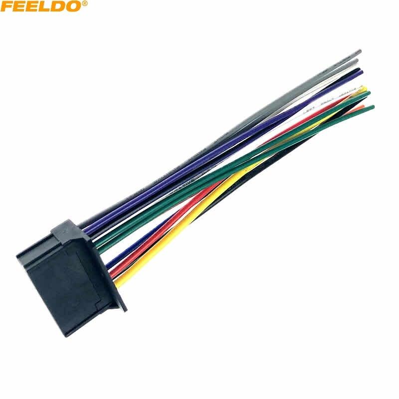 FEELDO-arnés ISO de 16 pines para coche, adaptador de Cable de Radio...