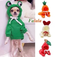 warm dog winter clothes cute fruit dog coat hoodies fleece pet dogs costume jacket for french bulldog chihuahua ropa para perro