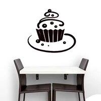Tarte sucree nourriture stickers muraux gateau decor a la maison cuisine cafe autocollant mural vinyle Art peintures murales enfants pepiniere papier peint affiche decoration