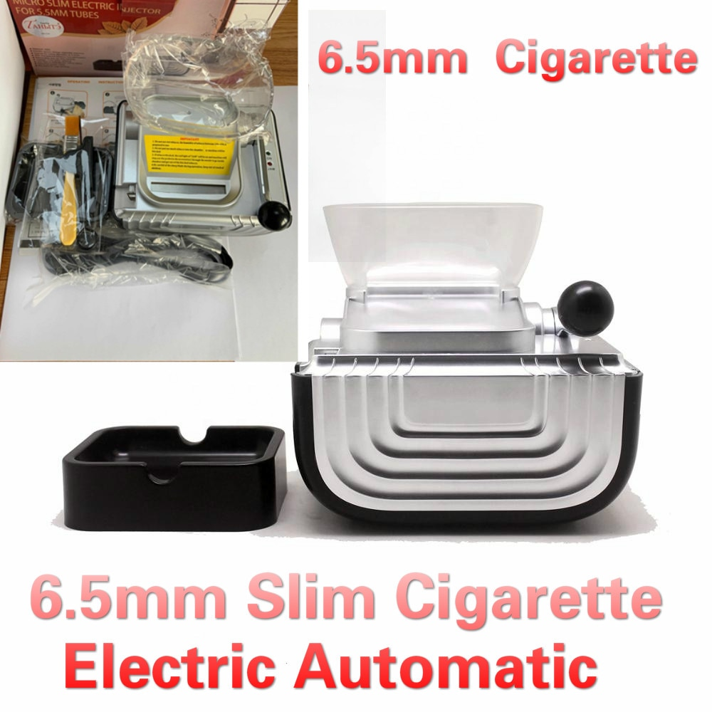 6.5mm Slim Tube Electirc Cigarette Rolling Machine Tabacco Maker Inject Lighter Wrapping Roller Tobacco Smoke Tools Gift For Men enlarge