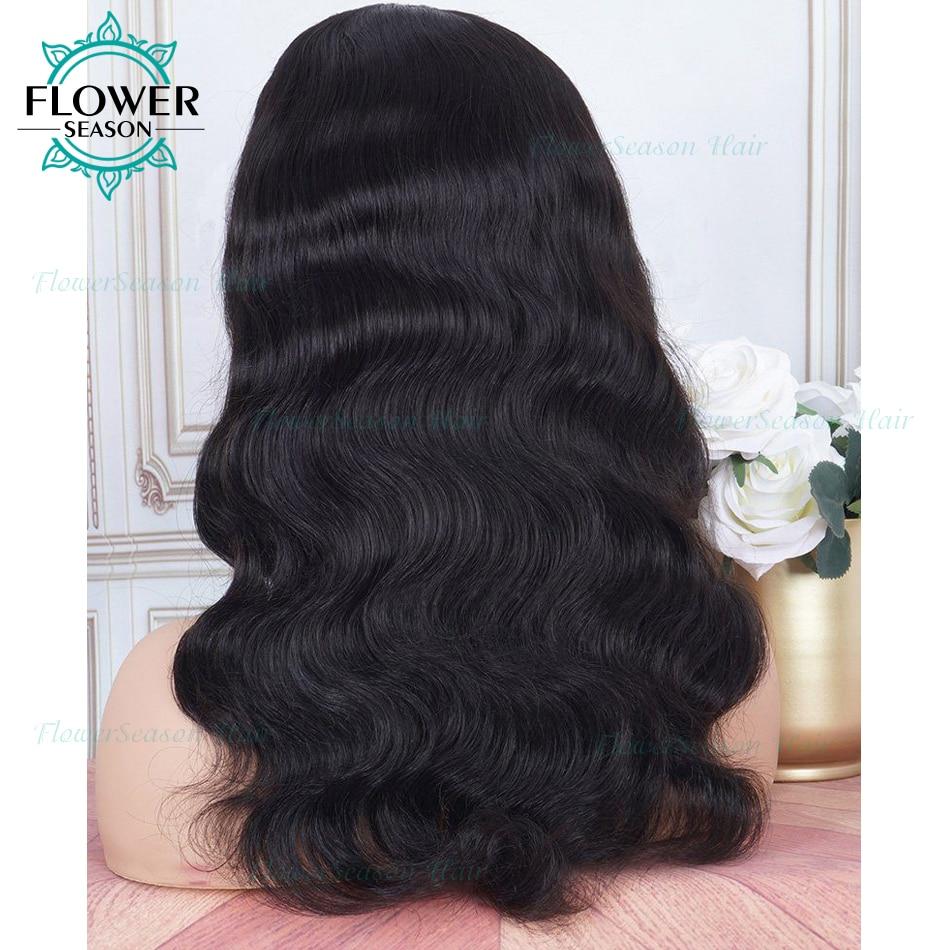 cabelo humano ondulado máquina cheia perucas 180