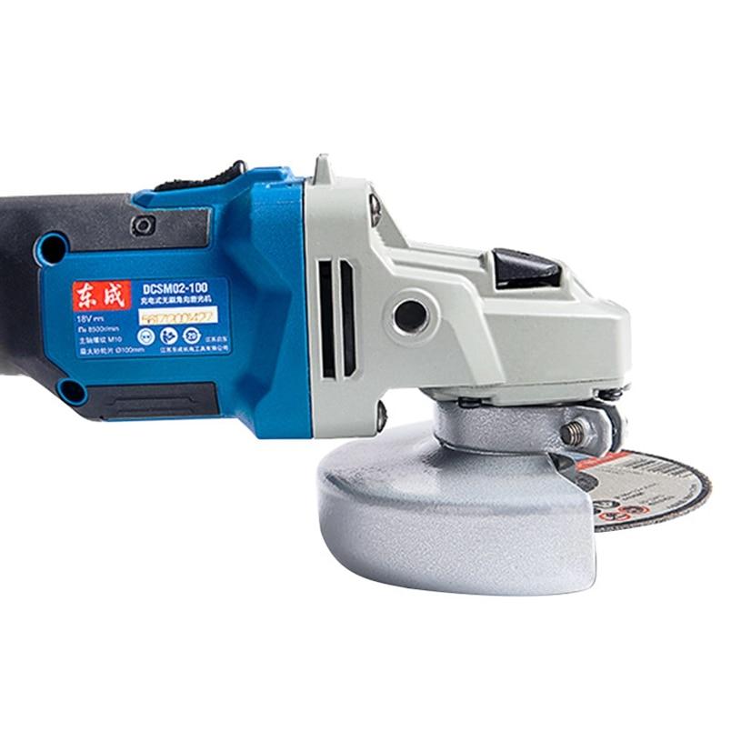 Wuzheng Dongcheng DCSM02-100 E type angle grinder 18V rechargeable angle grinder metal cutting sander enlarge