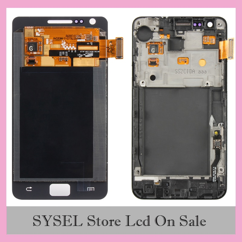 Для Samsung Galaxy SII S2 i9100 ЖК-дисплей сенсорный экран дигитайзер сборка Замена
