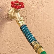 Tuyau darrosage rallonge adaptateur robinet tuyaux raccord adaptateur avec ressort hélicoïdal connecteur robinet tuyau raccord adaptateur jardin