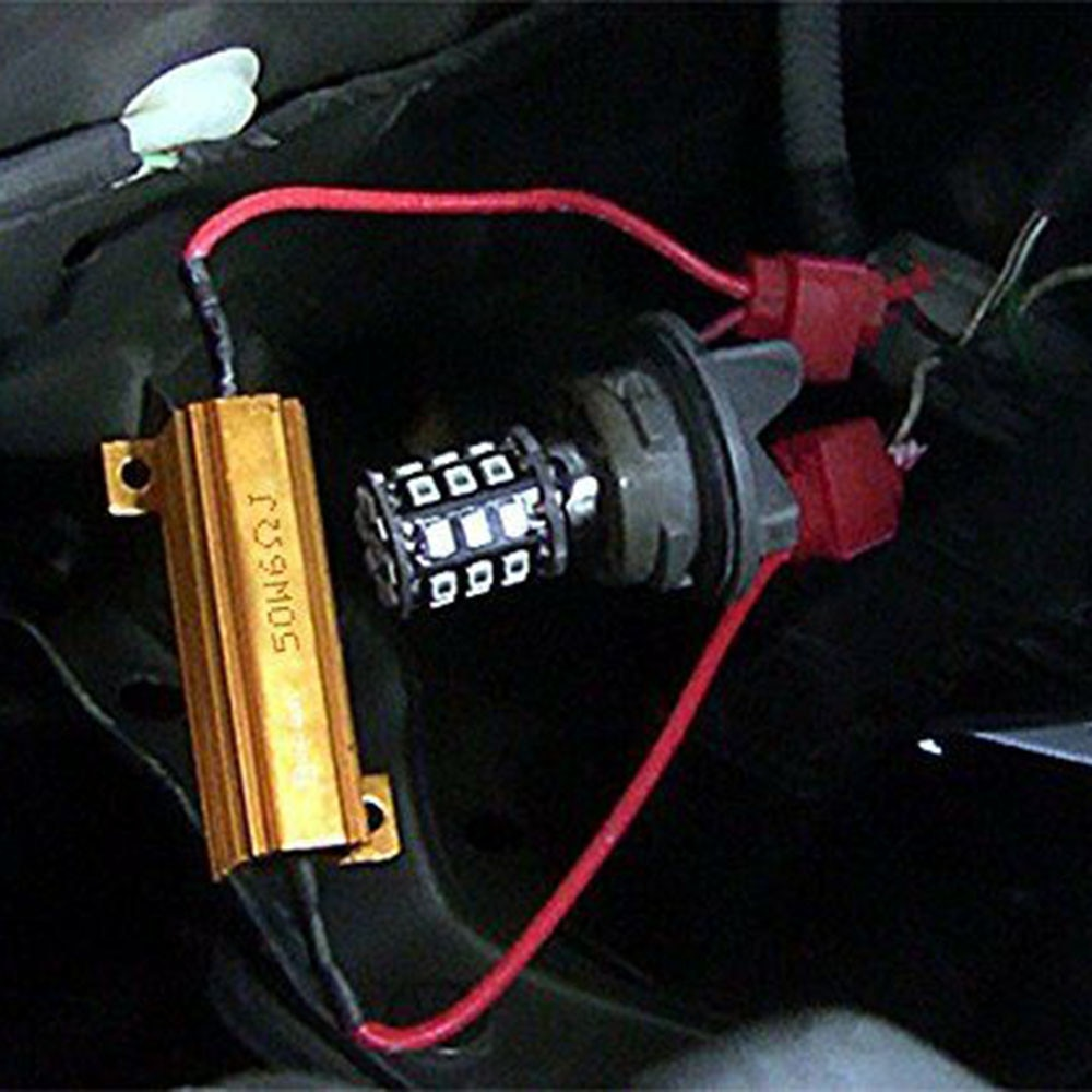 LED Load Resistors Truck Turn Signal W/ 8Pcs T-Taps 4pcs 6 Ohm Car DRL