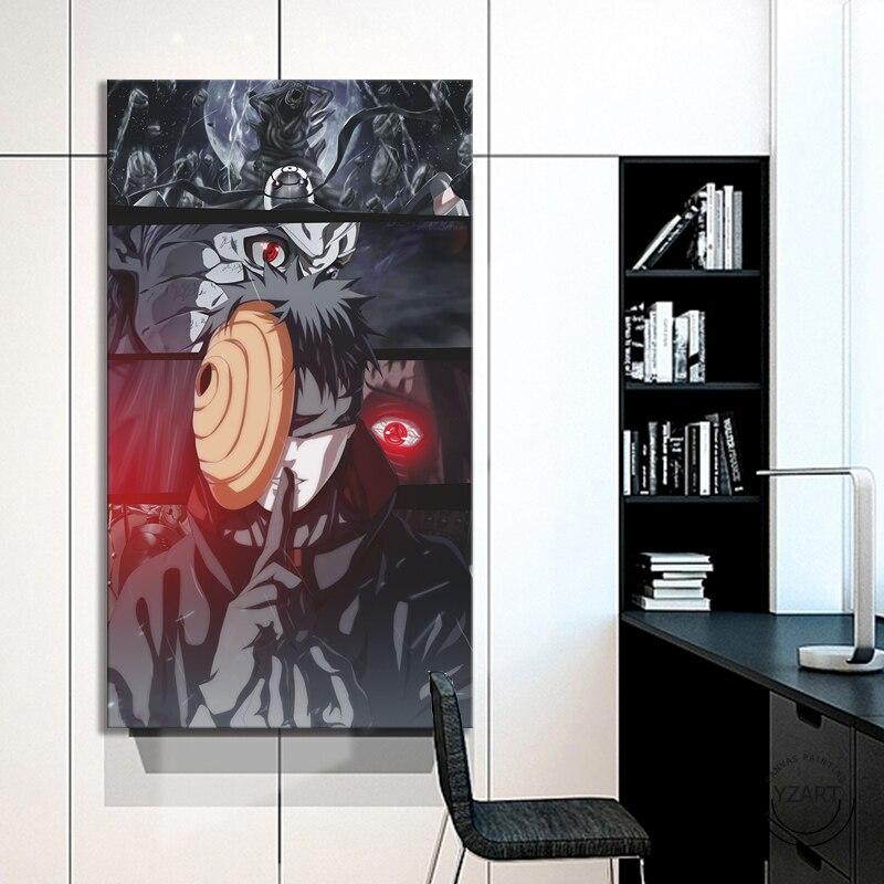 Affiche de dessin animé de garçon   Image HD Uchiha Obito NARUTO, décoration murale, peinture pour chambre à coucher, 1 pièce