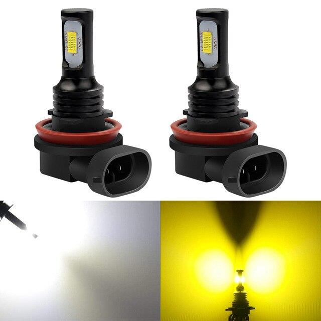 Luz antiniebla led Katur 2 uds 1200Lm H11 H8 9006 HB4 CSP 6000k Blanco/3000k amarillo dorado 12V luces led para coche
