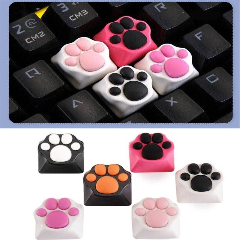 ABS سيليكون كيتي باو الحرفي القط الكفوف لوحة المفاتيح أغطية المفاتيح لكرز MX Swit