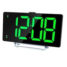 Большой будильник 9 дюймов светодиодный цифровой Дисплей двойным сигналом показывающие внутреннюю/с USB Зарядное устройство Порты и разъёмы...