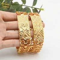 luxury gold copper bracelet for women dubai gold bangles indian arabic jewelry with designer charms hawaiian wholesale party