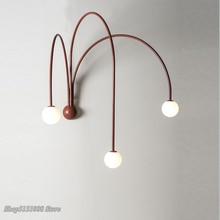 Italiano Led hierro lámparas de pared moderna sala de estar pared del dormitorio Rama de luz de cristal iluminación de noche hogar Decoración de pared candelabro Luminaria