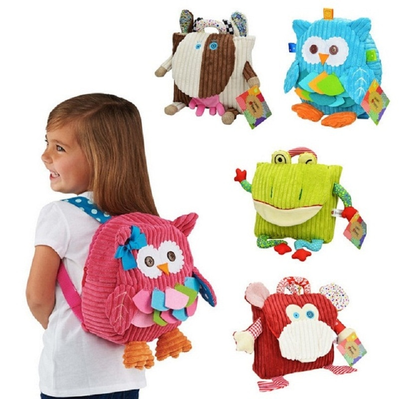 Children Backpack Bag Kindergarten Girls Boys Gifts Cute Cartoon Toys Kid Owl Cow Frog Monkey School Bags for Girls