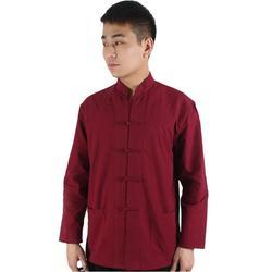 Chinês tradicional tang jaqueta wu shu tai chi roupas shaolin kung fu asa camisa mangas compridas exercícios traje primavera