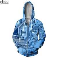 hx 2021 popular electronic chip zipper hoodies men women 3d print jogging fashion hip hop harajuku hot selling casual tops