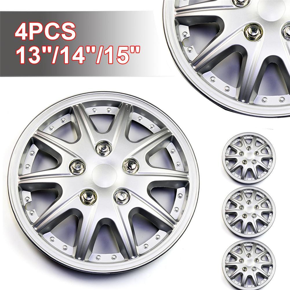 Cubierta del centro de volante Universal automotriz cubierta decorativa resistente y duradera de la rueda no se oxidará