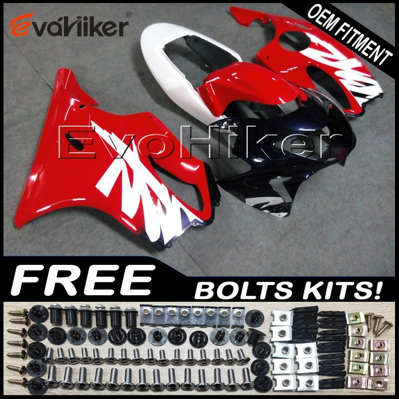Kit de carrocería de motocicleta de carenado personalizado para CBR600F4 1999-2000 ABS paneles de motocicleta molde de inyección rojo + regalos