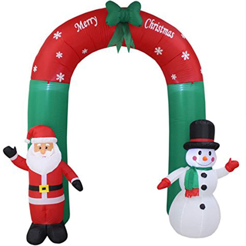 Garden Holiday Lighting LED Light Christmas Scene Decorations Layout of The Site Props Inflated Christmas Arch Santa Snowman Led