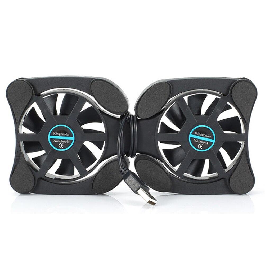 Ventilador plegable de disipación de calor portátil pequeño radiador portátil almohadilla de enfriamiento USB
