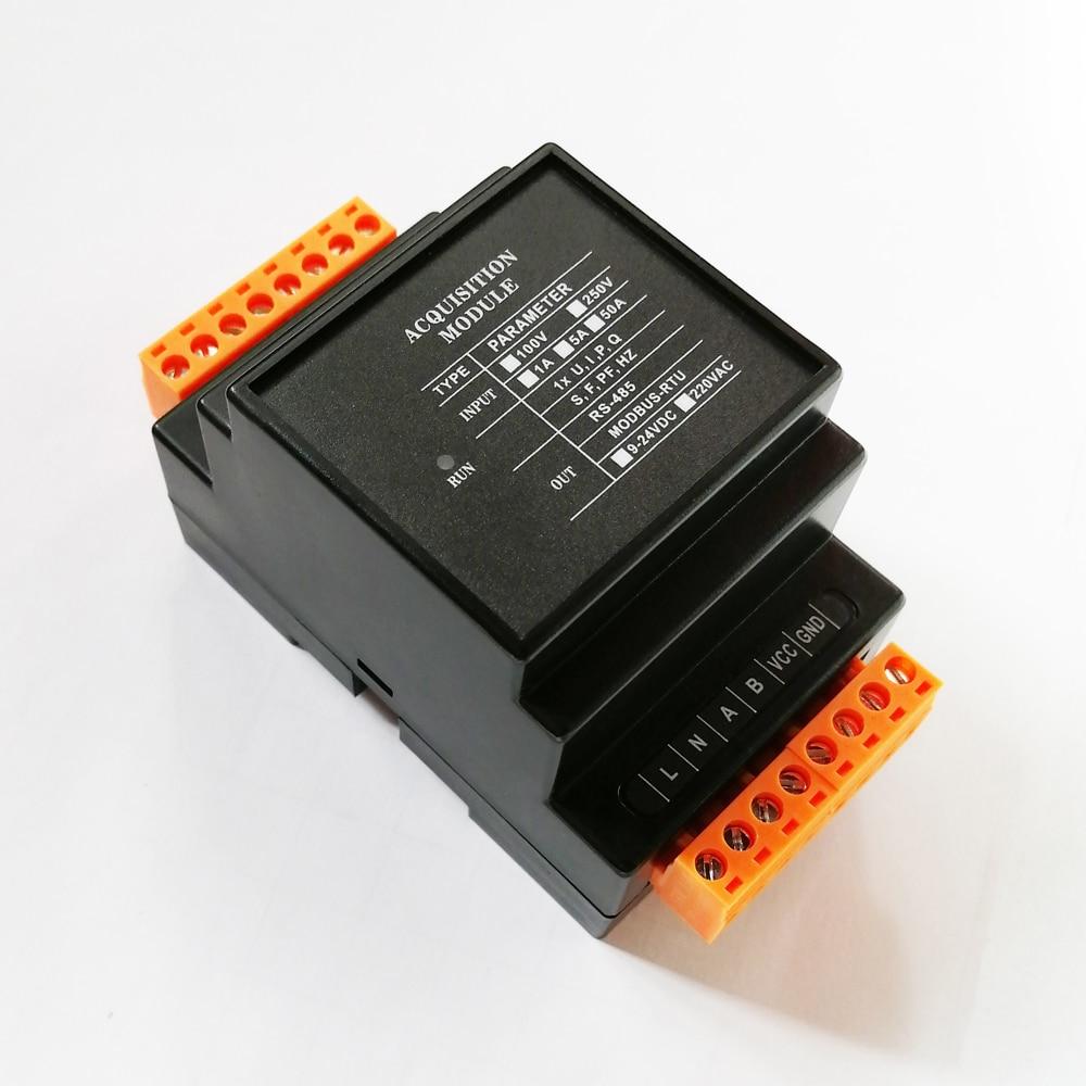 التيار المتناوب الجهد الحالي إلى rs485 المنفذ التسلسلي وحدة الإرسال عن بعد عالية الدقة الارسال 5A500V اكتساب الكمية التناظرية