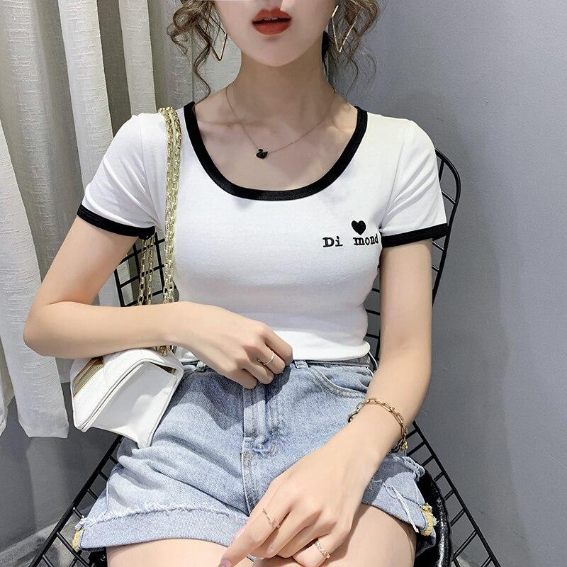 Camiseta con letras para Mujer, camisetas de manga corta de verano 2020...