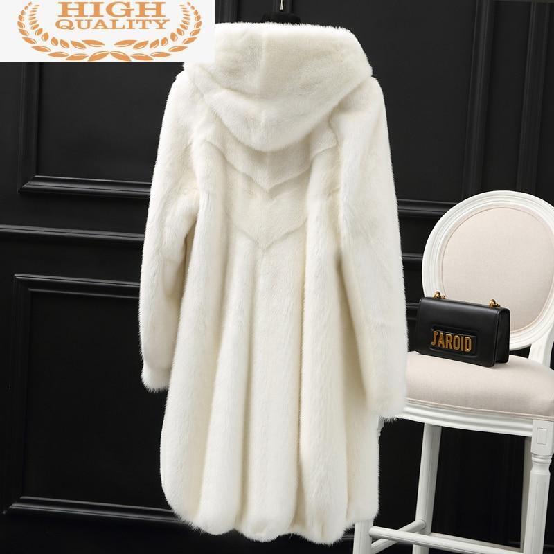Mink Natural Real Fur Coat Female Luxury Fur Coats Winter Jacket Women Hooded Korean Jackets for Women Warm Overcoat DZ892605