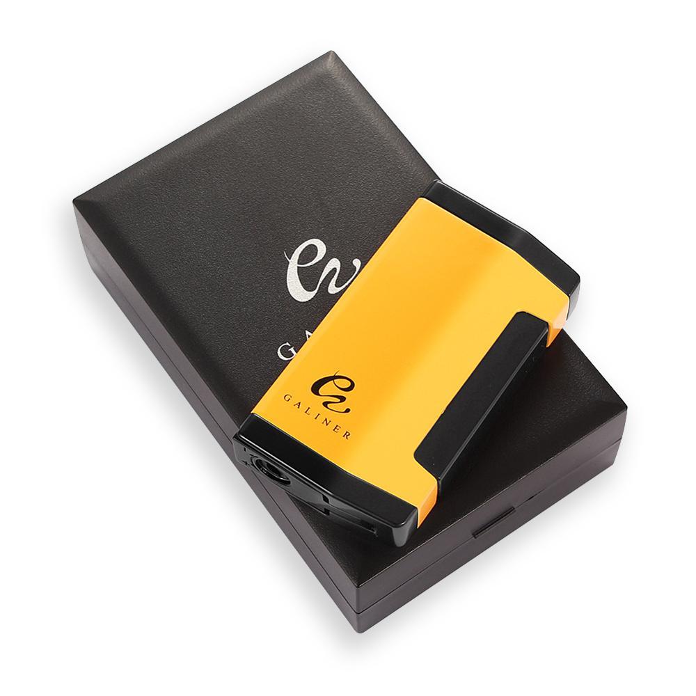 Butane Cigar Lighter 1 Jet Torch Lighter Refillable Portable Pocket Cigarette Lighters Windproof Gas W/ Cigar Punch For COHIBA
