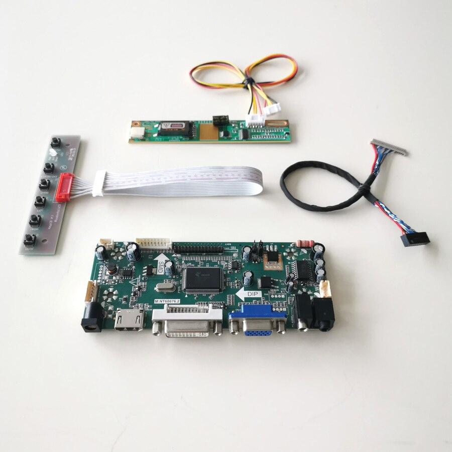 Для LP133X7-A2/C2CC VGA + DVI CCFL LVDS 20Pin MNT68676 контроллер дисплея карта привода ЖК-монитор 1024*768 13,3