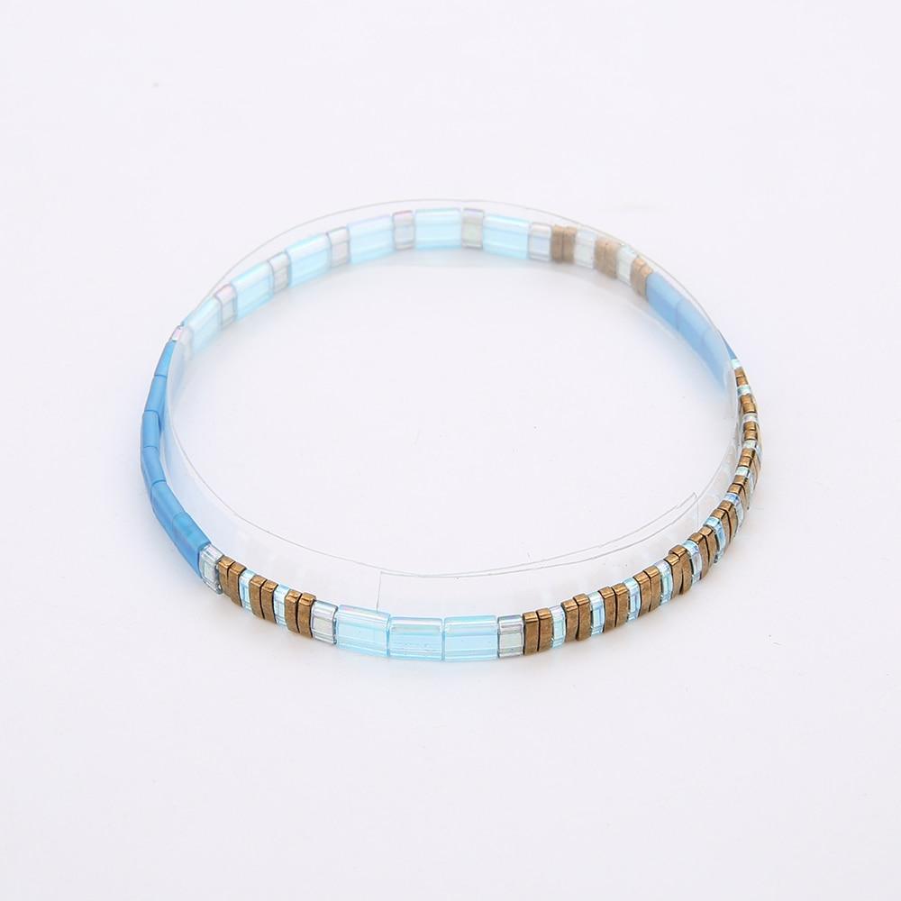 Rttooas jóias beira-mar praia novo design simples pulseira para mulheres homens meninas artesanal miyuki tila semente grânulo pulseira