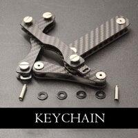 Углеродное волокно ключ держатель кошелек для смарт-ключа DIY брелок EDC Карманный держатель ключей для автомобиля Органайзер цепочки брелок ...