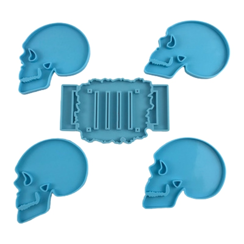 Skeleton Coaster Epoxy Resin Mold Cup Mat Casting Silicone Mould DIY Crafts Jewelry Placemat Plate Decoration Mold