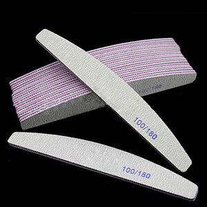 Professional Nail File 100/180 Half Moon Sandpaper Nail Sanding  Grinding Polishing Manicure Care Tools