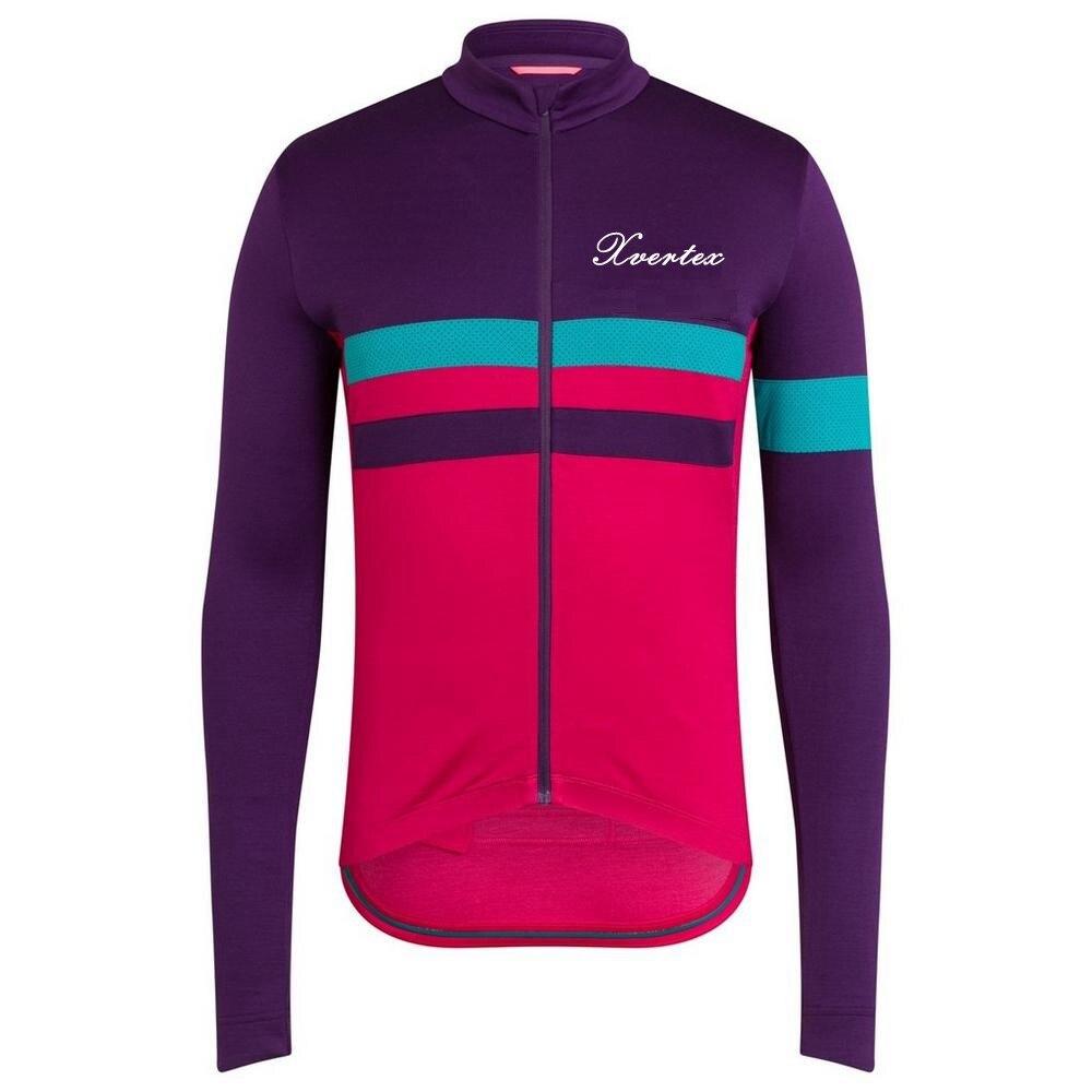 Xvertex-Jersey de ciclismo de manga larga para hombre, Maillot transpirable para primavera,...